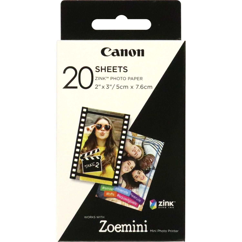 Etiquette Consommable Zink Paper ZP-2030 20 feuilles pour Zoe Mini